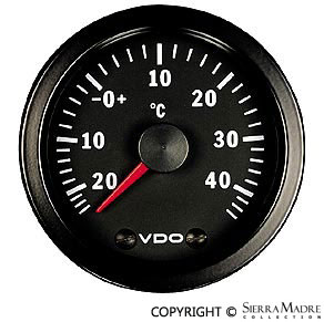 Porsche Parts Outside Air Tempature Gauge Vdo