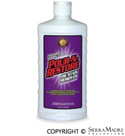 Porsche parts concrete oil stain remover for Concrete cleaner oil remover