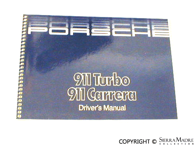 1986 porsche 911 owners manual