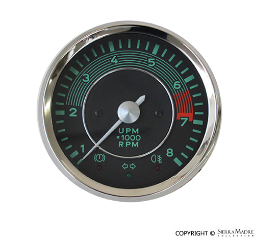 porsche parts vdo tachometer (0 to 8000 rpm)vdo tachometer (0 to 8000 rpm)
