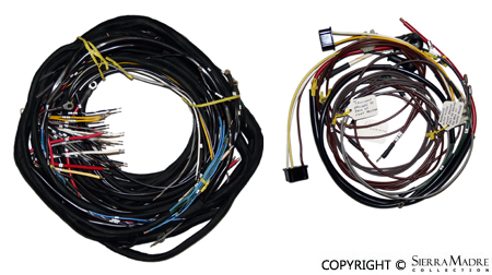 178598 porsche parts complete wiring harness, 356 speedster roadster wiring harness parts at readyjetset.co