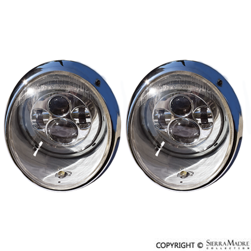 Led Headlight Bulb >> Porsche Parts John Audette LED Headlight Set, 911 (65-94)