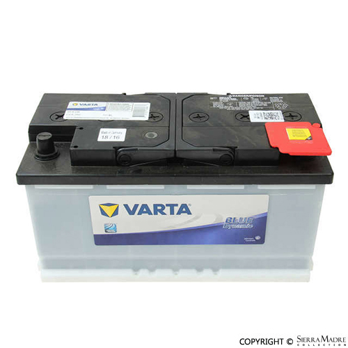 porsche parts varta battery 911 928 cayenne macan panamera 74 16. Black Bedroom Furniture Sets. Home Design Ideas