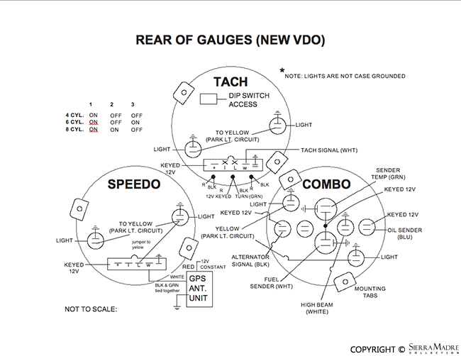 vw vdo tach wiring diagram porsche parts vdo gauge sending unit kit  oil temp  fuel level and  porsche parts vdo gauge sending unit