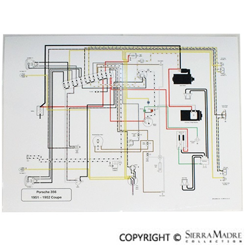 Porsche Parts Full Color Wiring Diagrams (50-73)Sierra Madre Collection