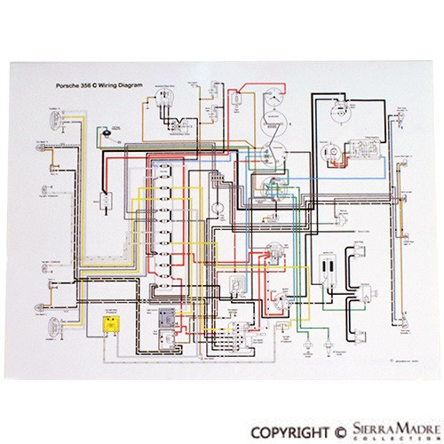 193259 porsche parts full color wiring diagrams (50 68) porsche 356 wiring diagram at bayanpartner.co