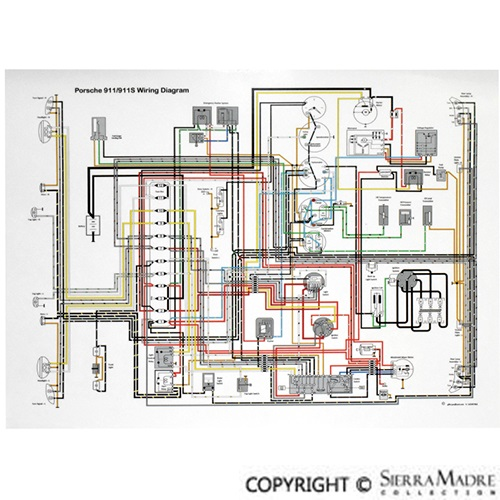 porsche parts full color wiring diagrams 50 68 rh sierramadrecollection com